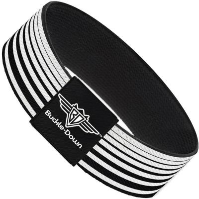 Buckle-Down Elastic Bracelet - Stripe Transition Black/White