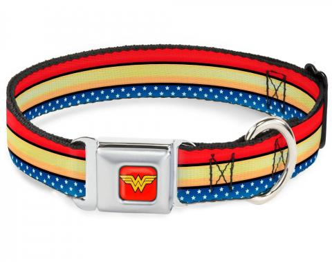 Dog Collar WWA - Wonder Woman Stripe/Star R/G/B/W