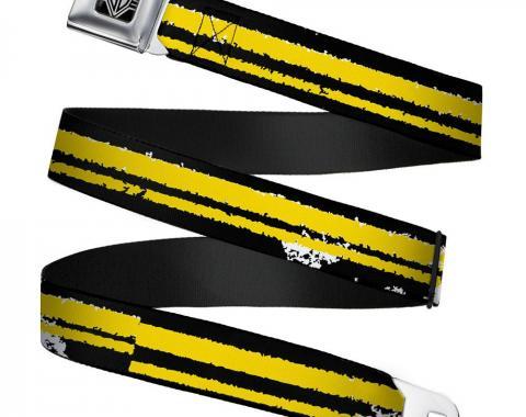 Seatbelt Belt - Racing Stripe2 Weathered Black/Yellow