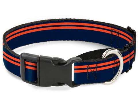 Plastic Martingale Collar - Racing Stripe Navy/Orange