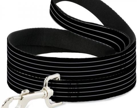 Buckle-Down Dog Leash - Pinstripes Black/Gray