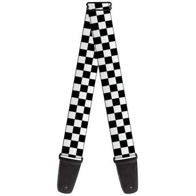 Guitar Strap - Checker Black/White