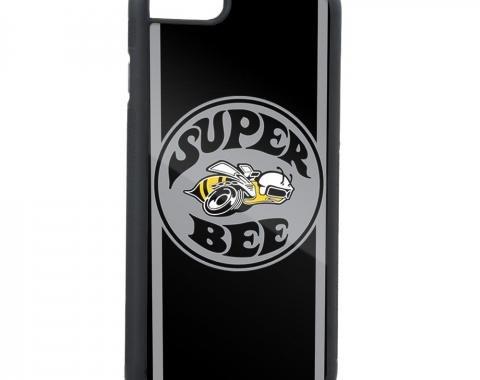 Rubber Cell Phone Case - BLACK - SUPER BEE Logo/Side Stripes FCG Black/Gray