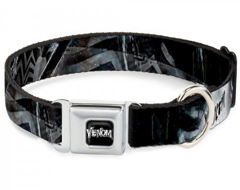 MARVEL UNIVERSE   Dog Collar VNA-VENOM Black/White - VENOM Expression CLOSE-UP Repeat