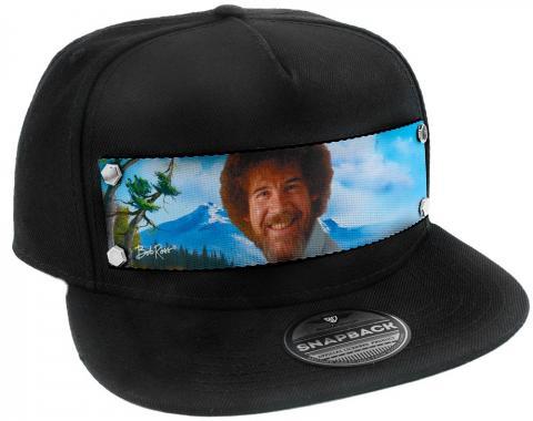 Embellishment Trucker Hat BLACK - Bob Ross Smiling