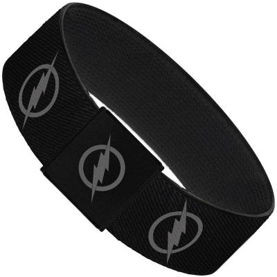 "Elastic Bracelet - 1.0"" - Reverse Flash Logo Black/Gray"