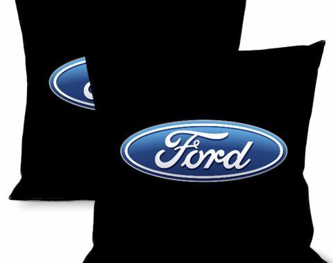 Throw Pillow - Ford Logo