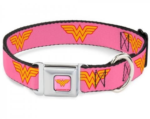 Dog Collar WWB-Wonder Woman Pink - Wonder Woman Logo Pink