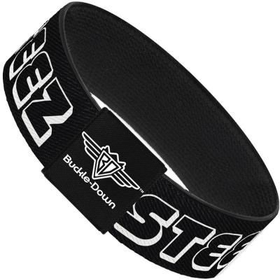 Buckle-Down Elastic Bracelet - STEEZ 3-D Black/White