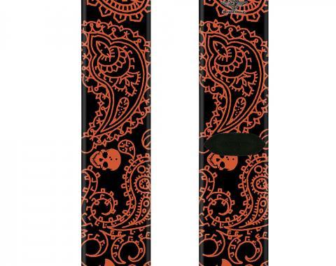 Sock Pair - Polyester - Bandana/Skulls Black/Orange - CREW