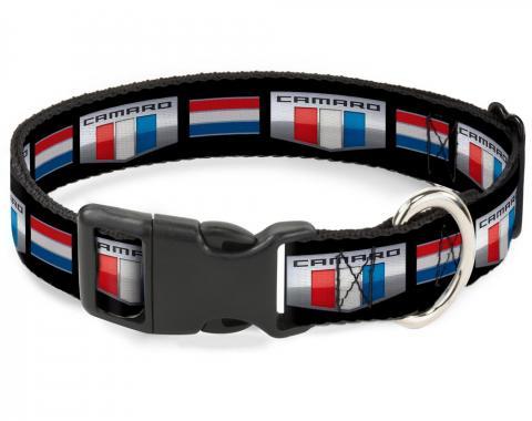 Plastic Breakaway Clip Collar - CAMARO Six Badge/Stripe Black/Silver/Red/White/Blue