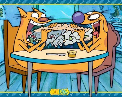 Placemat - CATDOG Eating Sandwich Blues