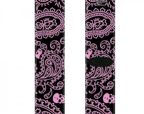 Sock Pair - Polyester - Bandana/Skulls Black/Pink - CREW