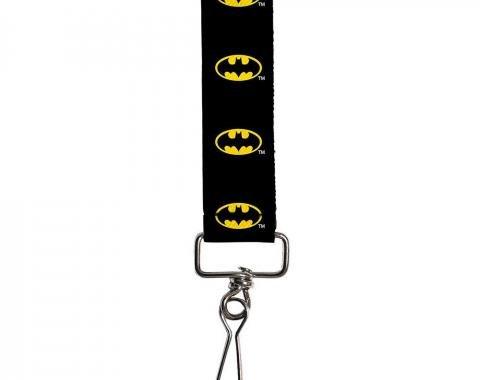 "Key Fob - 1.0"" - Batman Shield Black/Yellow"