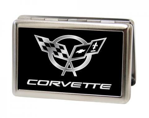 Business Card Holder - LARGE - Corvette FCG Black/Silver