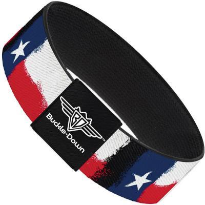 Buckle-Down Elastic Bracelet - Texas Flag Painting