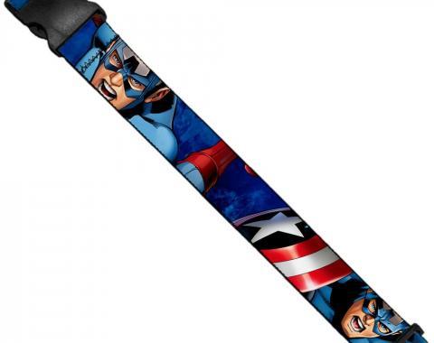 MARVEL AVENGERS   Luggage Strap - Marvel Avengers Captain America Action1 Blue