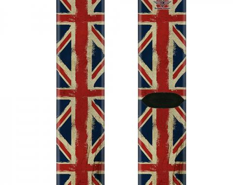 Sock Pair - Polyester - United Kingdom Flags Distressed Painting - CREW
