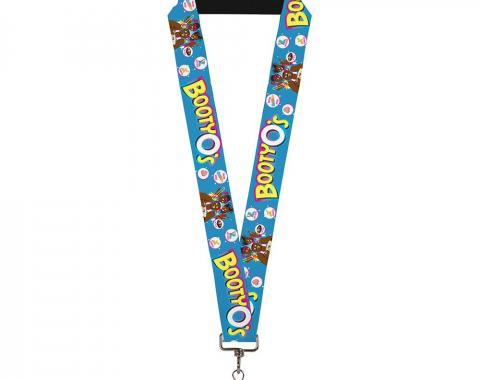 """Lanyard - 1.0"""" - The New Day BOOTY O's Group Pose Blue/Pinks/Yellows/White"""