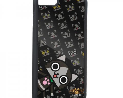 Rubber Cell Phone Case - BLACK - Merarou Pose/Expressions Monogram FCG Black/Grays