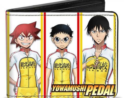 CRUNCHYROLL  Bi-Fold Wallet - YOWAMUSHI PEDAL Team Sohoku 6-Riders Pose Blocks White/Yellow/Red
