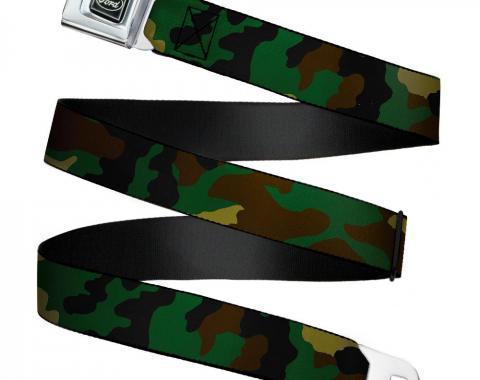 Ford Emblem Seatbelt Belt - Camo Olive X-LARGE Webbing