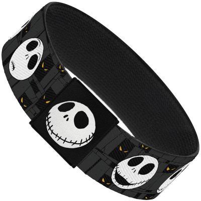 "Elastic Bracelet - 1.0"" - Nightmare Before Christmas Jack Expressions Gray"