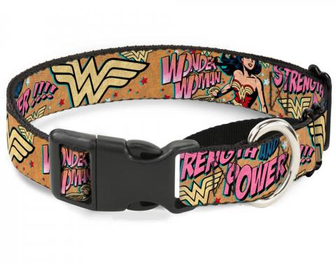 Plastic Martingale Collar - Wonder Woman Strength & Power