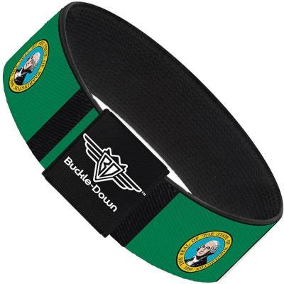 Buckle-Down Elastic Bracelet - Washington Flags/Black