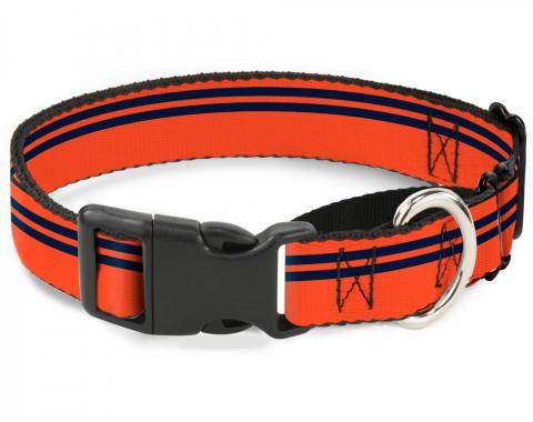 Plastic Martingale Collar - Racing Stripe Orange/Navy