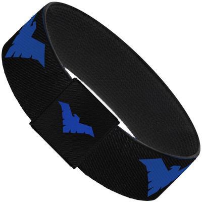 "Elastic Bracelet - 1.0"" - Nightwing Logo Black/Blue"