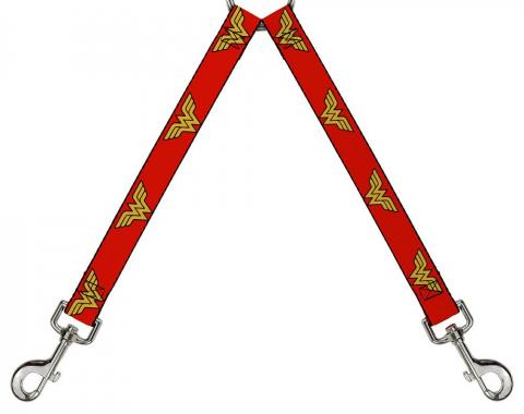 Dog Leash Splitter - Wonder Woman Logo Red
