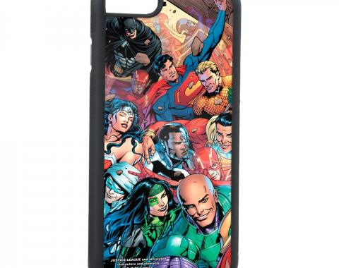Rubber Cell Phone Case - BLACK - Justice League Issue #34 10-Superheroes Group Selfie Variant Cover Pose FCG