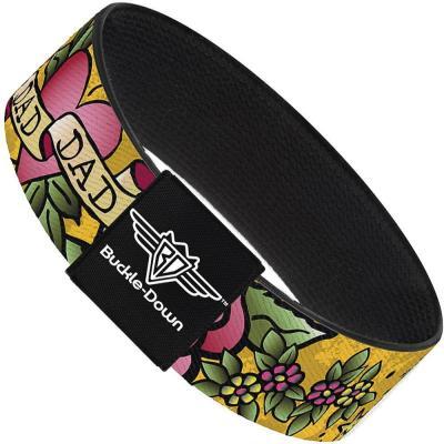 Buckle-Down Elastic Bracelet - Dad & Dad Yellow