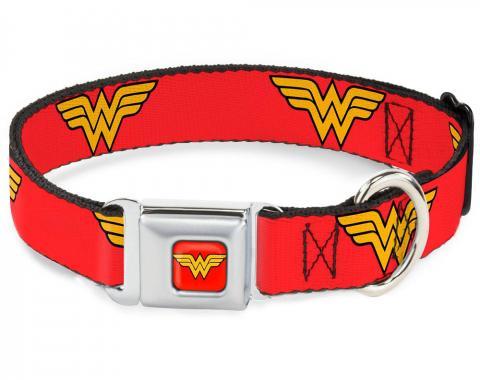 Dog Collar WWA-Wonder Woman Red - Wonder Woman Logo Red