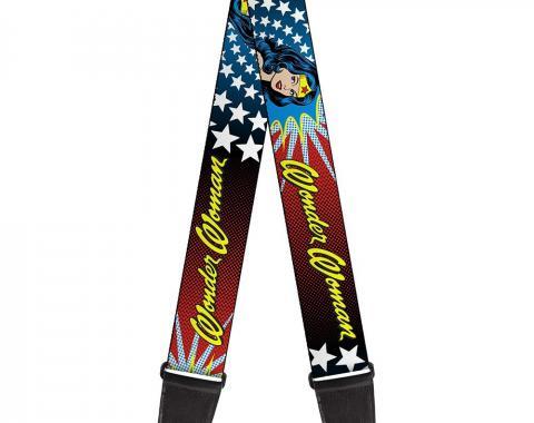 Guitar Strap - Wonder Woman Face w/Stars