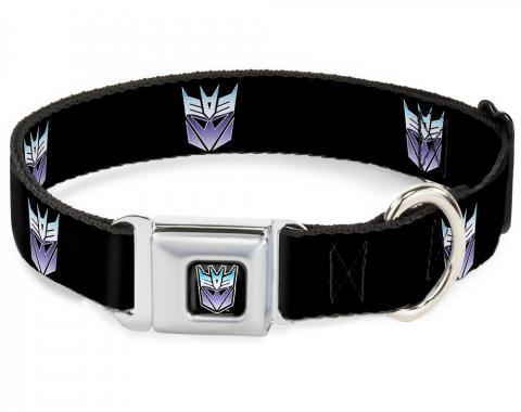 Dog Collar TFJ-Transformers Decepticon Logo Black/Blue Fade - Decepticon Repeat Logo Black/Blue Fade