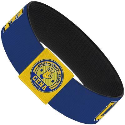 "Elastic Bracelet - 1.0"" - John Cena U CAN'T SEE ME Logo Blue/White/Black/Yellow"