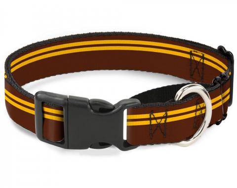 Plastic Martingale Collar - Racing Stripe Brown/Gold