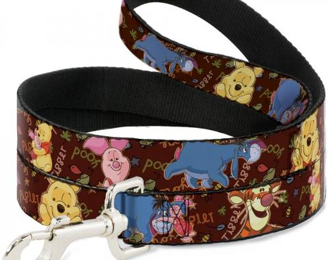 Dog Leash Winnie the Pooh Character Poses