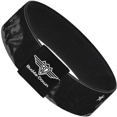 Buckle-Down Elastic Bracelet - Cali Bear Black/Grays