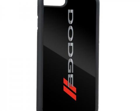 Rubber Cell Phone Case - BLACK - DODGE/Red Rhombus FCG Black/Silver/Red
