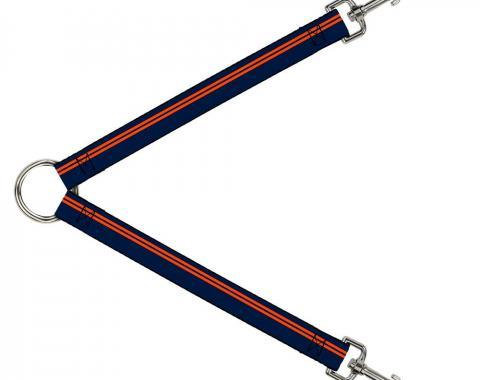 Dog Leash Splitter - Racing Stripe Navy/Orange