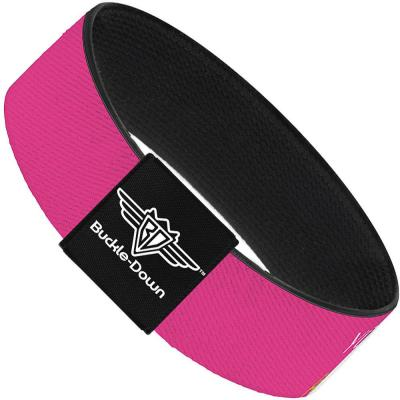 Buckle-Down Elastic Bracelet - YOUNG WILD AND FREE Pink/White/Blue/Yellow/Green