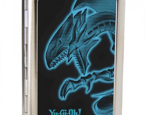 Business Card Holder - LARGE - YU-GI-OH! Blue-Eyes White Dragon Pose FCG Black/Electric Blue