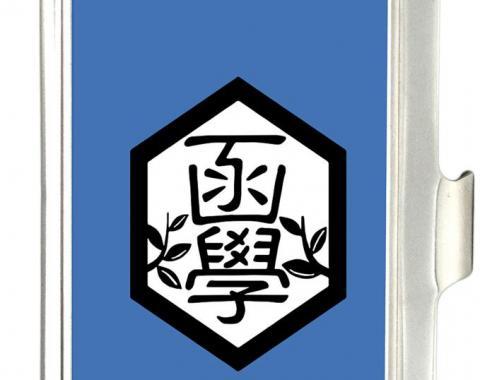 Business Card Holder - SMALL - YOWAMUSHI PEDAL Hakone Academy Logo FCG Blue/Black/White