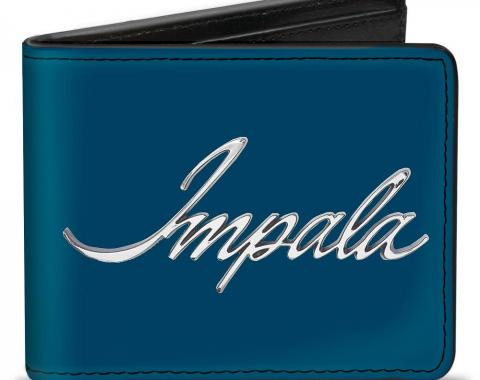 Bi-Fold Wallet - IMPALA Script Emblem Blue/Silver