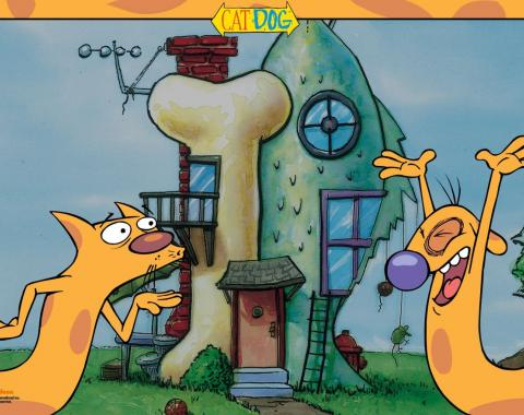 Placemat - CATDOG Pose/House