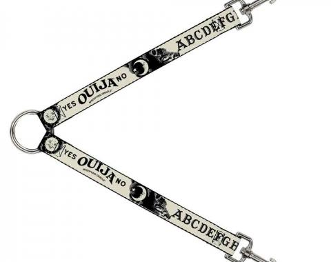 Dog Leash Splitter - Ouija Board Elements1 White/Black
