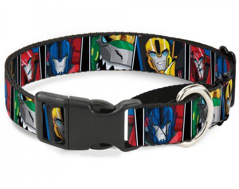 Plastic Martingale Collar - Transformers Robots in Disguise 4-Character Face Blocks